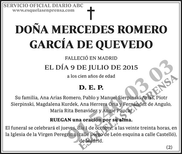 Mercedes Romero García de Quevedo